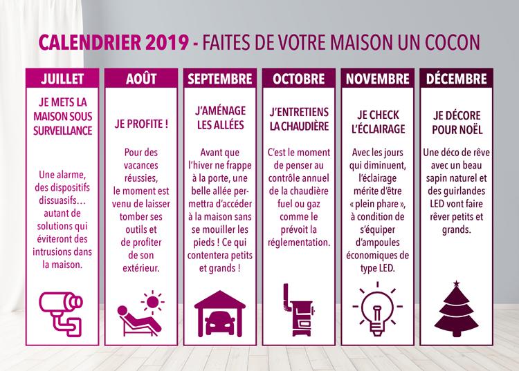 Bien Divorcer Calendrier 2019.Calendrier 2019 Faites De Votre Maison Un Cocon Immonot Com